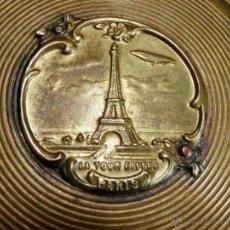 Antigüedades: ANTIGUA Y ORIGINAL POLVERA MODERNISTA - PARÍS - METAL - LA TORRE EIFFEL - COLECCIÓN - ART NOUVEAU. Lote 53846517