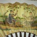 Antigüedades: ANTIGUO Y PECULIAR ABANICO POR SU REDUCIDO TAMAÑO.. Lote 53856420