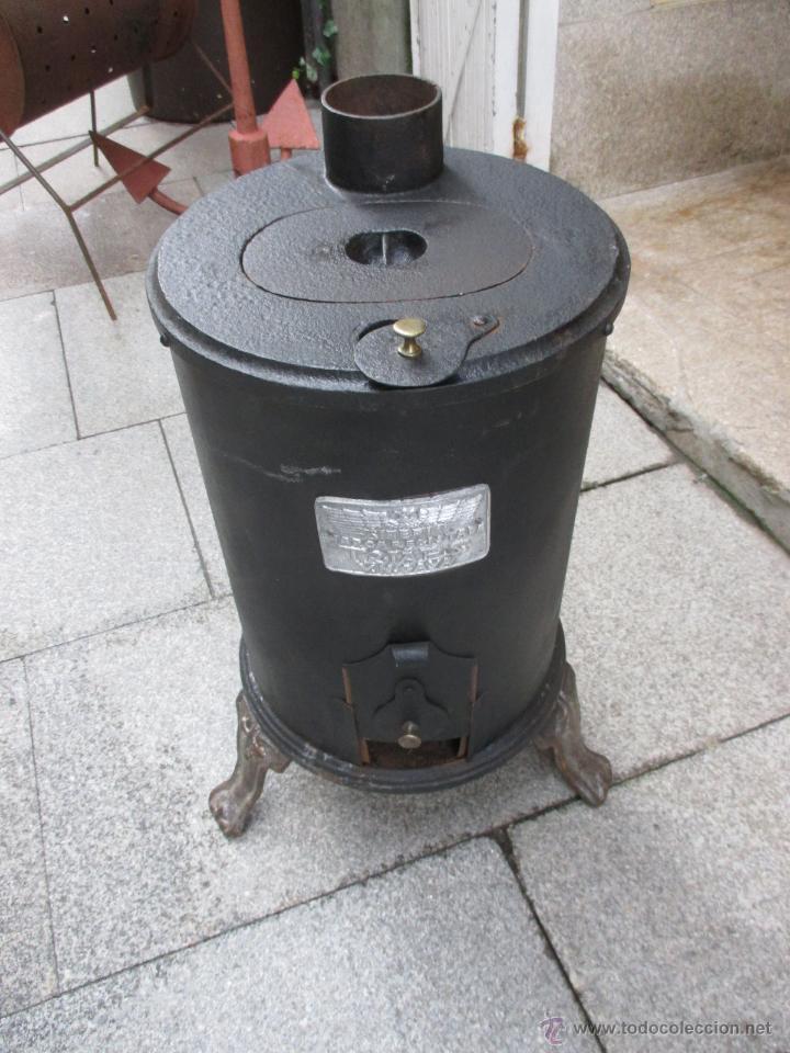 Estufa salamandra le a o carbon hierro fundid comprar for Estufa hierro fundido