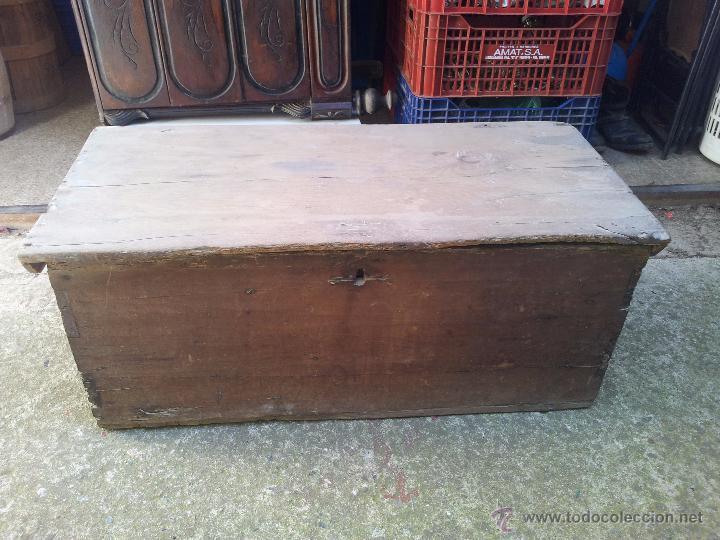 Caja arca baul rustica de pastor para restaur comprar - Restaurar baules antiguos ...
