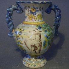 Antigüedades: JARRÓN CERÁMICA DE TALAVERA ( JUAN RUIZ DE LUNA ) . Lote 53879624