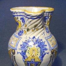 Antigüedades: JARRA CERÁMICA DE TALAVERA VIRGEN DEL PRADO ( NIVEIRO ) . Lote 53879971