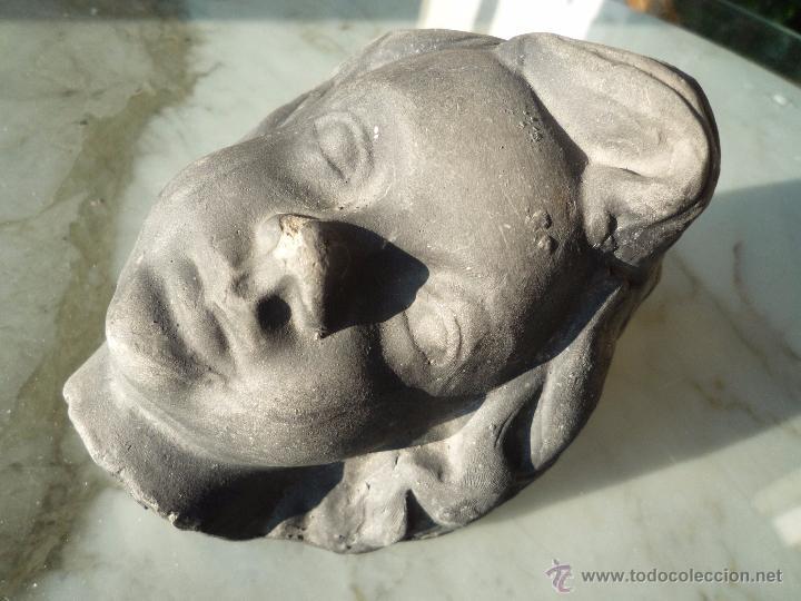 Antigüedades: ÁNGEL niño TERRACOTA Terrissa CERÁMICA NEGRA CATALANA sello AMPHORA GERONA años '40-50 !Único en TC! - Foto 7 - 53880148