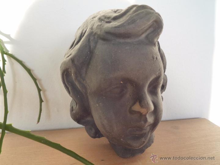 Antigüedades: ÁNGEL niño TERRACOTA Terrissa CERÁMICA NEGRA CATALANA sello AMPHORA GERONA años '40-50 !Único en TC! - Foto 17 - 53880148