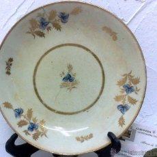 Antiques - ANTIGUO PLATO ISABELINO EN LOZA. - 31423772