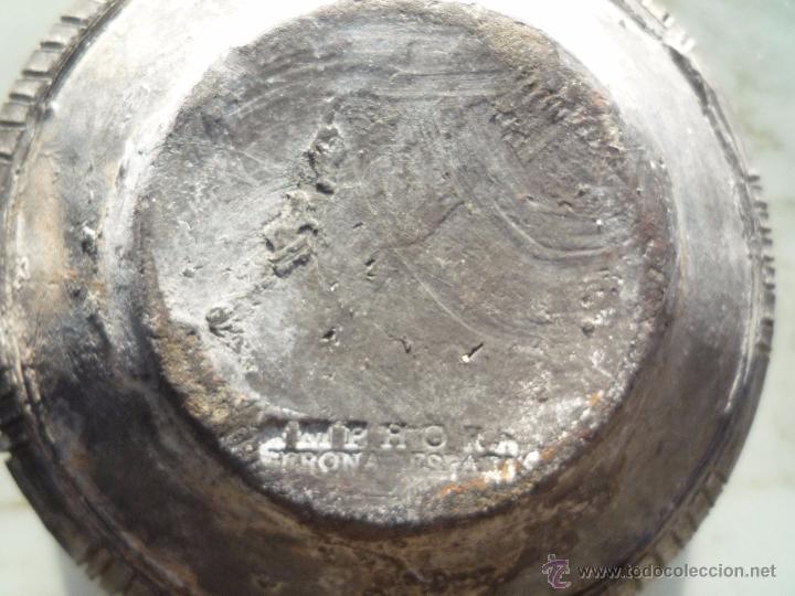 Antigüedades: CUENCO BOL TERRACOTA Terrissa CERÁMICA NEGRA CATALANA / Sello AMPHORA GERONA ESPAÑA años '40 - '50 - Foto 4 - 53880663
