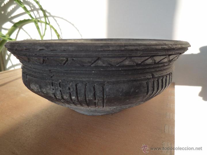 Antigüedades: CUENCO BOL TERRACOTA Terrissa CERÁMICA NEGRA CATALANA / Sello AMPHORA GERONA ESPAÑA años '40 - '50 - Foto 9 - 53880663