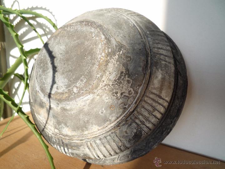 Antigüedades: CUENCO BOL TERRACOTA Terrissa CERÁMICA NEGRA CATALANA / Sello AMPHORA GERONA ESPAÑA años '40 - '50 - Foto 12 - 53880663