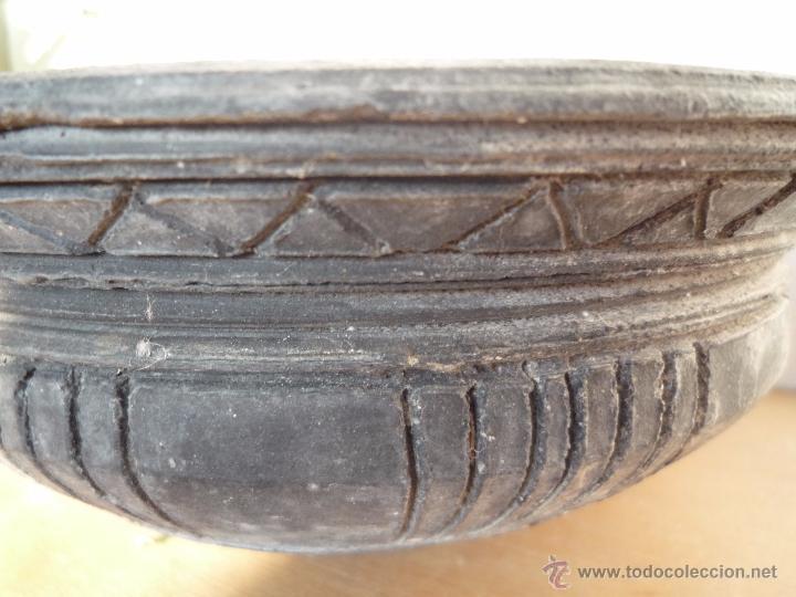 Antigüedades: CUENCO BOL TERRACOTA Terrissa CERÁMICA NEGRA CATALANA / Sello AMPHORA GERONA ESPAÑA años '40 - '50 - Foto 14 - 53880663