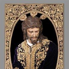 Antigüedades: PRECIOSO AZULEJO 40X25 DEL CRISTO DE SAN GONZALO DE SEVILLA. Lote 53883230