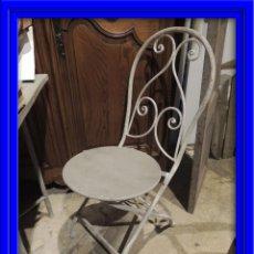 Antigüedades: SILLAS JARDIN METALICAS TENGO CUATRO. Lote 53886827