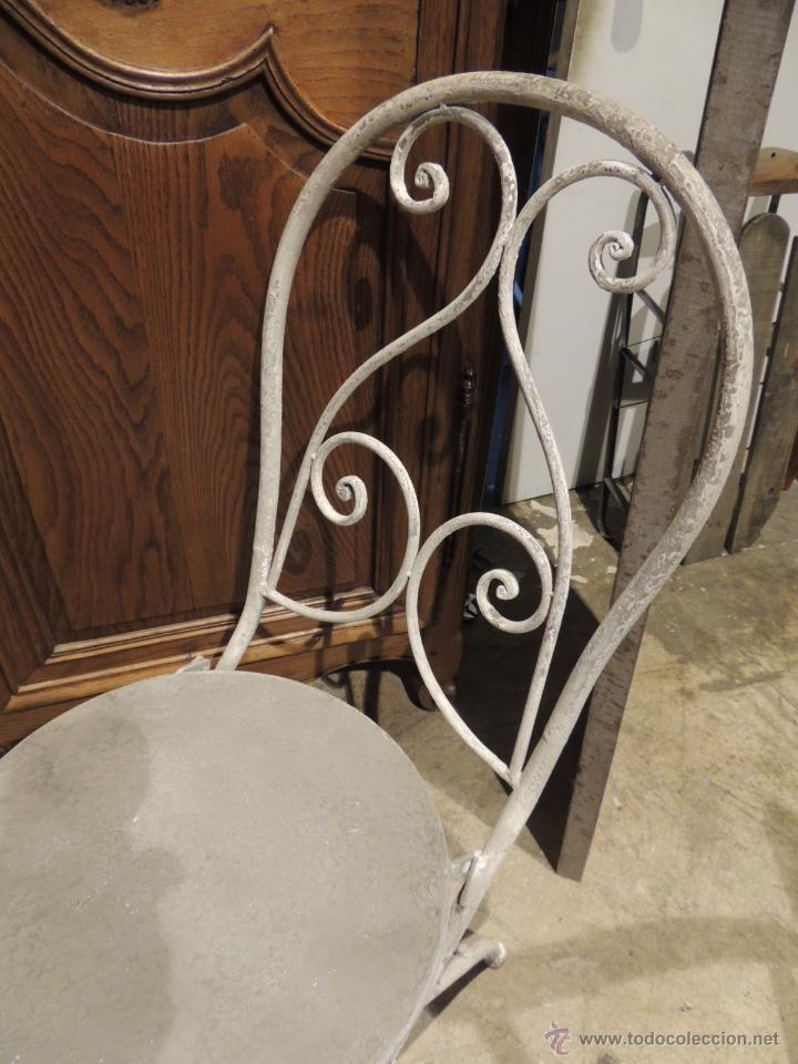 Antigüedades: SILLAS JARDIN METALICAS TENGO CUATRO - Foto 2 - 53886827