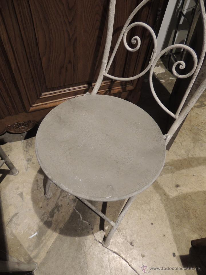 Antigüedades: SILLAS JARDIN METALICAS TENGO CUATRO - Foto 3 - 53886827