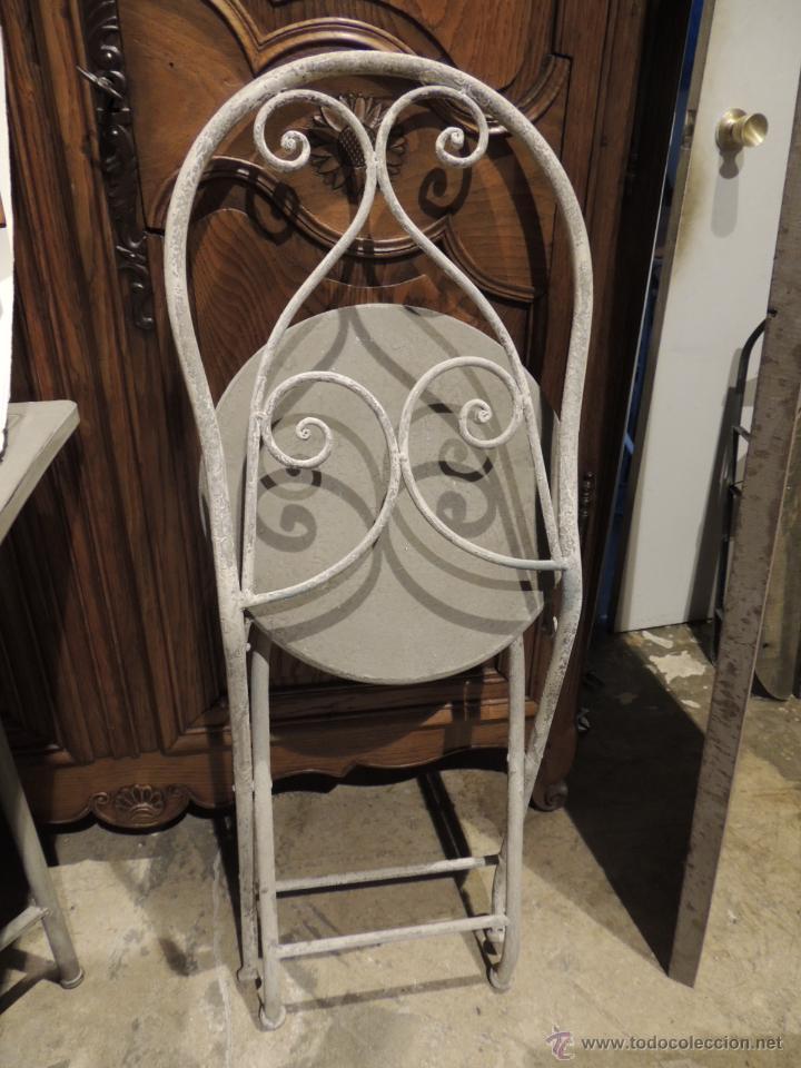 Antigüedades: SILLAS JARDIN METALICAS TENGO CUATRO - Foto 5 - 53886827
