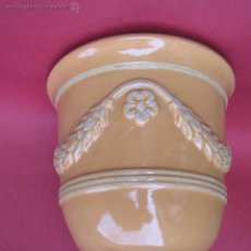 Antigüedades: VASO MEDICI . JARDINIERE. FAYENZA SIGLOS XVIII - XIX. 18,5 CM.. Lote 53893624
