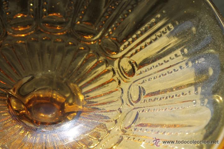 Antigüedades: ANTIGUO FRUTERO EN COLOR MARRÓN PRENSADO CRISTAL SANTA LUCIA CARTAGENA - Foto 2 - 53901908