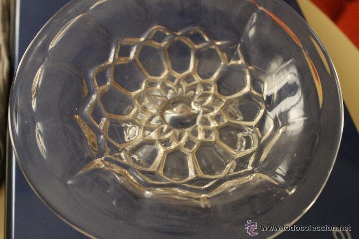 Antigüedades: ANTIGUO FRUTERO EN COLOR BLANCO PRENSADO CRISTAL SANTA LUCIA CARTAGENA - Foto 4 - 53903570