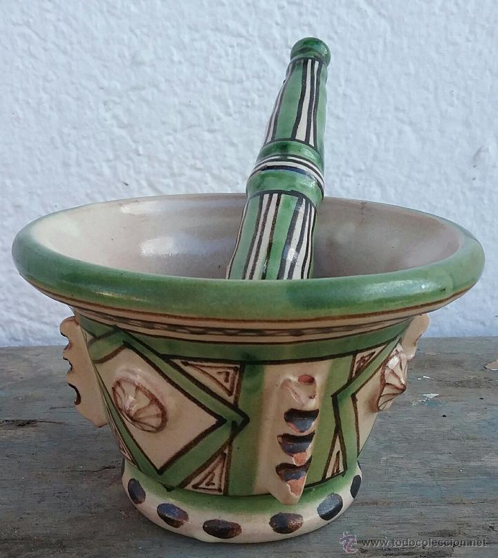 MORTERO DE ALFARERÍA PUNTER (Antigüedades - Porcelanas y Cerámicas - Teruel)