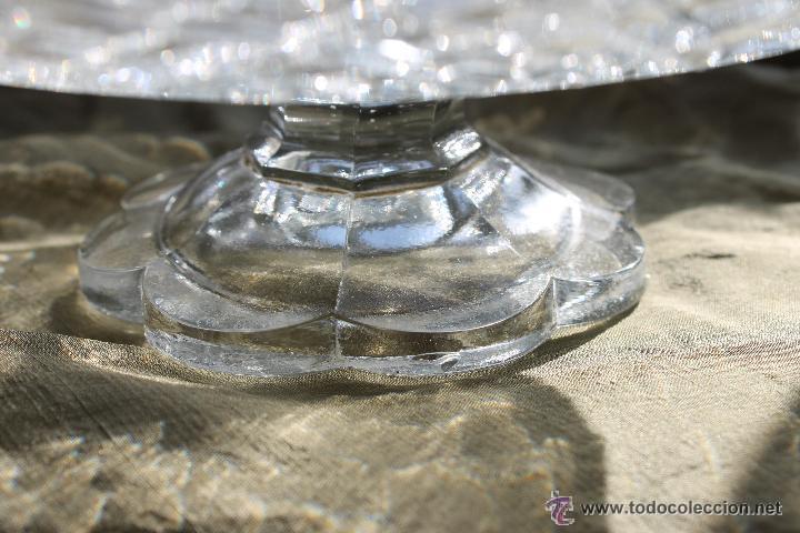 Antigüedades: FRUTERO BAJO CRISTAL PRENSADO SANTA LUCIA CARTAGENA, BLANCO - Foto 3 - 53951729