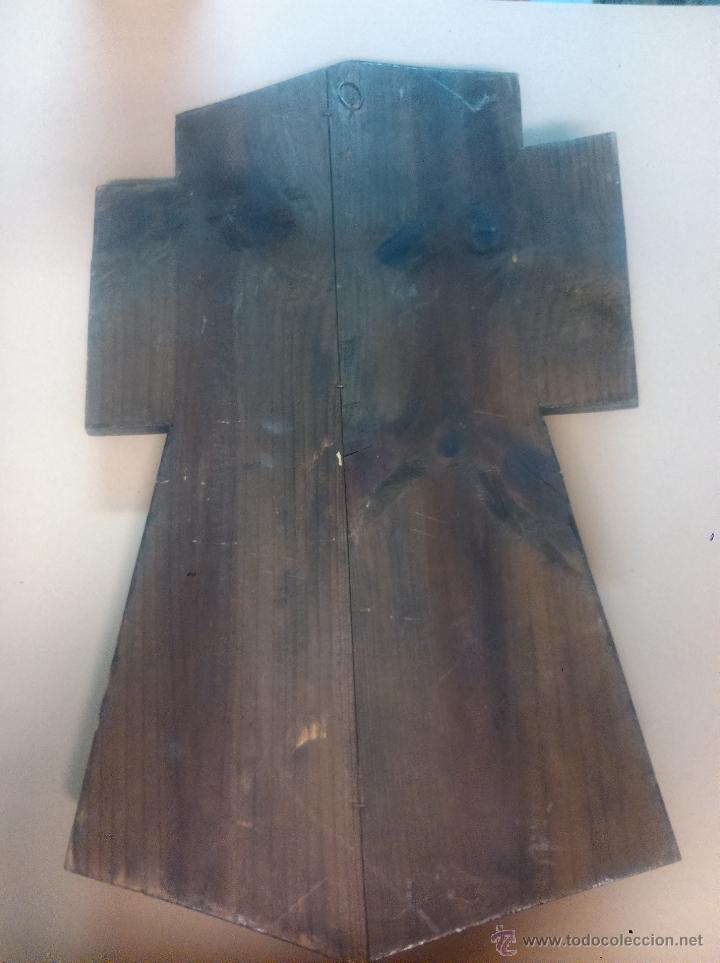 Antigüedades: Cristo de bronce en cruz de madera - Foto 4 - 53951807