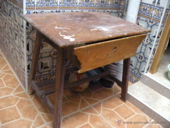 Antigua mesa tocinera con caj n para restaurar comprar for Antiguedades para restaurar