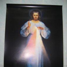 Antigüedades: LAMINA JESÚS-POSTER GRANDE- 1 METRO-JESÚS DE LA MISERICORDIA-NUEVO-NAVIDAD-COMUNIÓN-FIGURA-LOTE. Lote 53965636