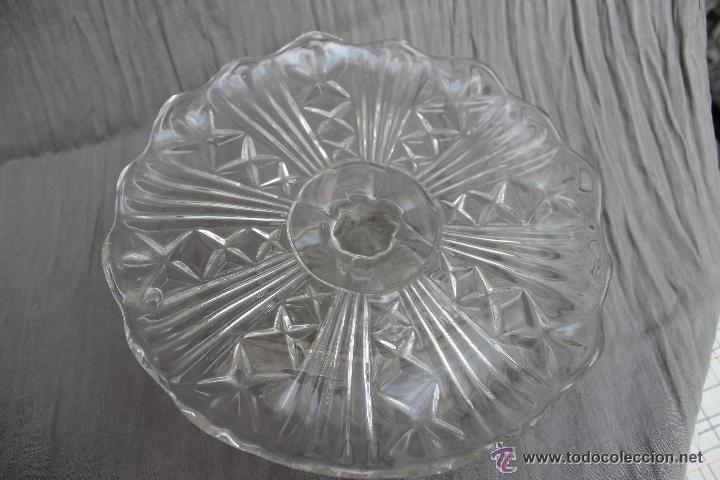 Antigüedades: ANTIGUO FRUTERO CRISTAL PRENSADO, MEDIANO, SANTA LUCIA CARTAGENA - Foto 3 - 53974225