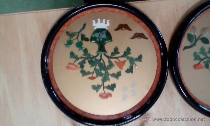 Antigüedades: Pareja de placas chinas muy decorativas - Foto 3 - 53991437