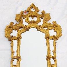 Antigüedades: BESTIAL ESPEJO XIX ANTIGUO CORNUCOPIA MADERA TALLADA AL PAN DE ORO DECORACION VINTAGE RETRO. Lote 53998728