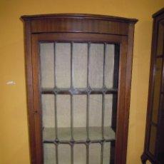 Antigüedades: VITRINA ANTIGUA DE MADERA COMPLETA MUY BONITA CON SEPARADORES CREO QUE DE PLOMO.. Lote 54010820
