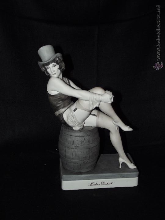 MARLENE DIETRICH EN AUTÉNTICA PORCELANA DE ALGORA DOCUMENTADA. SERIE LIMITADA EN PERFECTO ESTADO. (Antigüedades - Porcelanas y Cerámicas - Algora)