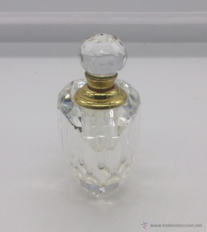 Antigüedades: Perfumero antiguo en cristal tallado Italiano estilo swarovski y bronce . - Foto 2 - 54017561