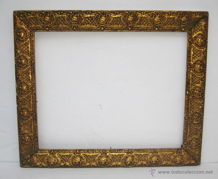 marco espejo o pintura antiguo s xix madera al - Comprar Espejos ...