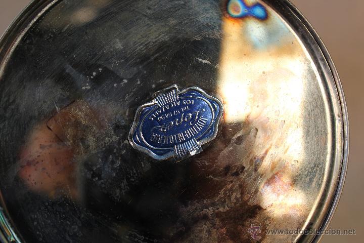 Antigüedades: CANDELABRO EN METAL PLATEADO - Foto 4 - 119156799