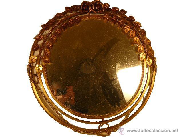 Antigüedades: ESPEJO SOL DE HIERRO - Foto 2 - 54022504