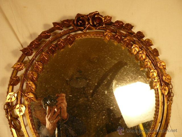 Antigüedades: ESPEJO SOL DE HIERRO - Foto 4 - 54022504