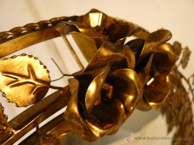 Antigüedades: ESPEJO SOL DE HIERRO - Foto 5 - 54022504