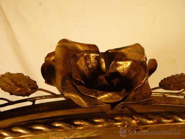 Antigüedades: ESPEJO SOL DE HIERRO - Foto 10 - 54022504