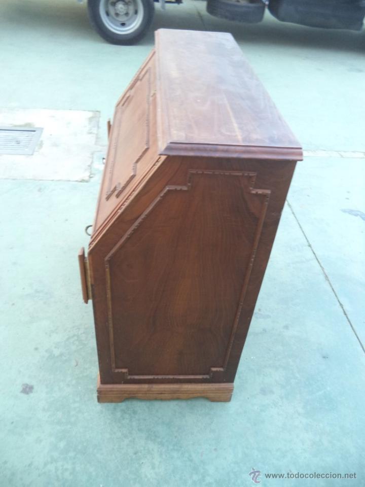 Antigüedades: mueble escritorio madera castaño - Foto 2 - 54025610