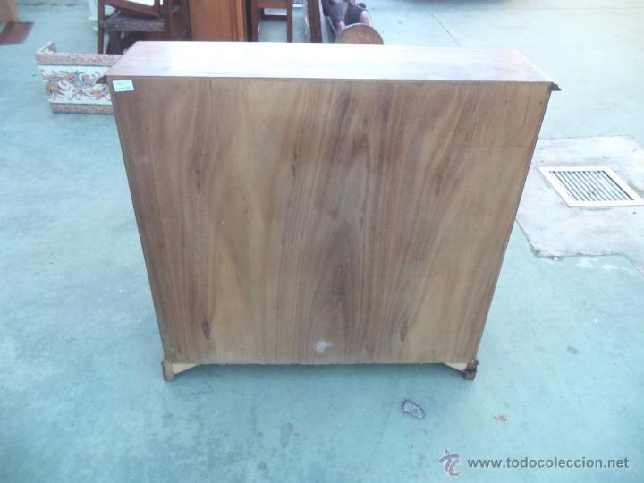 Antigüedades: mueble escritorio madera castaño - Foto 3 - 54025610