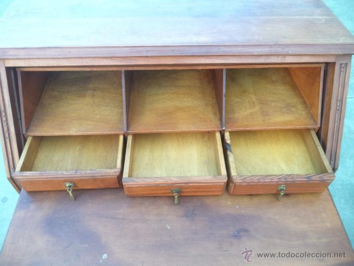 Antigüedades: mueble escritorio madera castaño - Foto 4 - 54025610