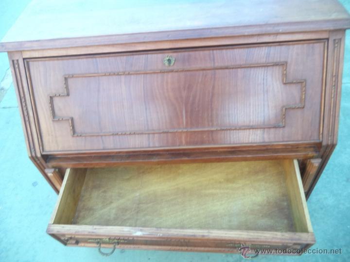 Antigüedades: mueble escritorio madera castaño - Foto 5 - 54025610