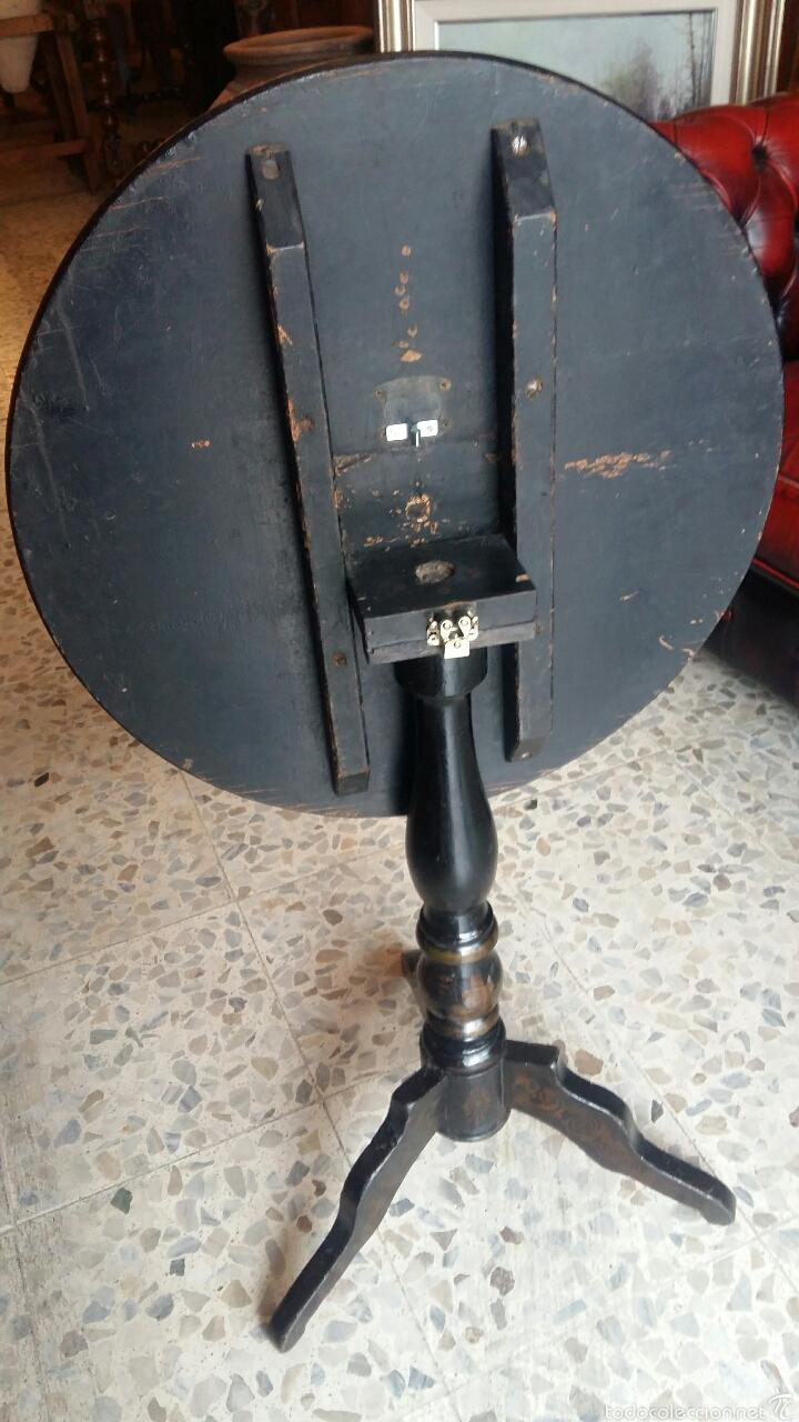 Antigüedades: Mesa velador pintada a mano - Foto 7 - 54027215