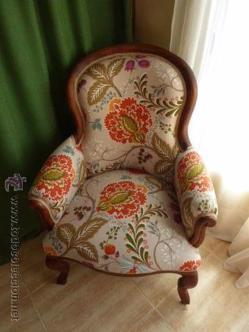Magnifico sillon isabelino de caoba restaurado comprar sillones antiguos en todocoleccion - Sillones antiguos restaurados ...