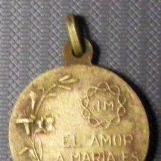 Antigüedades: MEDALLA RELIGIOSA - MIDE 2,5 CM SIN ANILLA. Lote 54030920