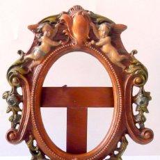 Antigüedades: ANTIGUO MARCO METAL ESMATE - PLOMO. Lote 54044442