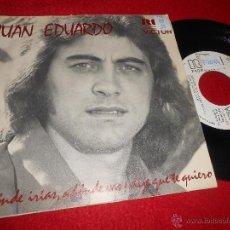Discos de vinilo: JUAN EDUARDO ADONDE IRIAS ADONDE VAS/DIJE QUE TE QUIERO 7 SINGLE 1974 RCA PROMO ESPAÑA. Lote 54044480