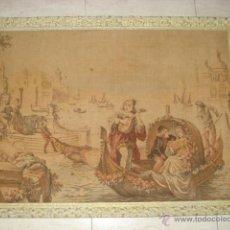 Antigüedades: ANTIGUO TAPIZ , ESCENA VENECIANA . Lote 54049569