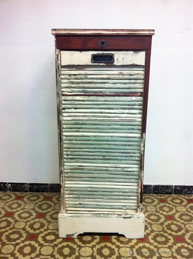 Antiguo mueble de persiana de caoba para gramol comprar - Persiana para mueble ...
