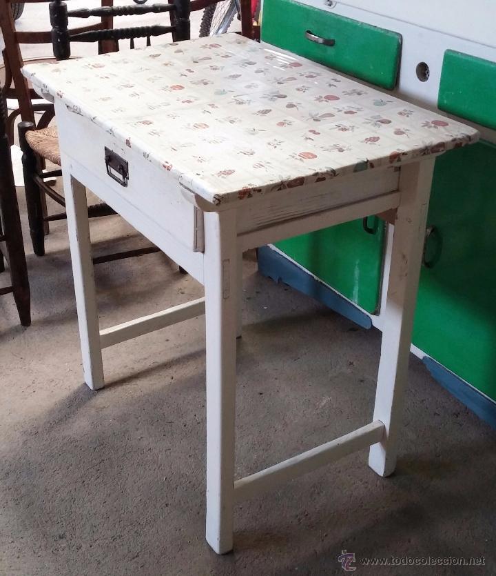 antigua mesa auxiliar de cocina - Comprar Mesas Antiguas en ...
